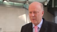 Chris Grayling Suzanne Evans and Paul Nuttall interviews ENGLAND London BBC Broadcasting Centre INT Chris Grayling MP interview SOT re Brexit...