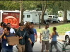 Chris Hemsworth makes his way to his trailer on the set of 'The Avengers' in Central Park in New York 09/02/11