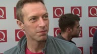 Chris Martin on Wretch 32 Adele and U2 at the The Q Awards 2011 at London England