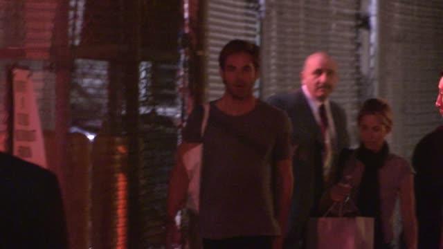 Chris Pine departing Jimmy Kimmel Studio Hollywood Celebrity Sightings in Los Angeles on in Los Angeles California