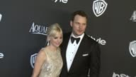 Chris Pratt and Anna Faris at 16th Annual InStyle And Warner Bros Golden Globe AfterParty on January 11 2015 in Beverly Hills California