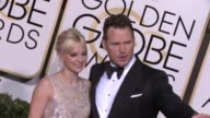 Chris Pratt and Anna Faris at the 72nd Annual Golden Globe Awards Arrivals at The Beverly Hilton Hotel on January 11 2015 in Beverly Hills California