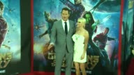 Chris Pratt and Anna Faris at the 'Guardians of the Galaxy' World Premiere at the El Capitan Theatre on July 21 2014 in Hollywood California