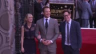 Chris Pratt Anna Faris and James Gunn at the Chris Pratt Honored With Star On The Hollywood Walk Of Fame at Hollywood Walk Of Fame on April 21 2017...