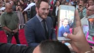 Chris Pratt Anna Faris at the Jurassic World Premiere in Hollywood in Celebrity Sightings in Los Angeles
