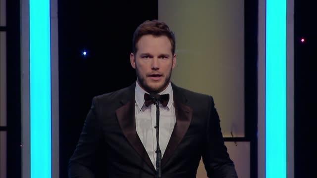 SPEECH Chris Pratt Frank Marshall at 65th Annual ACE Eddie Awards in Los Angeles CA