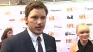 Chris Pratt on his first time playing a 'real' person on working with Brad Pitt and Philip Seymour Hoffman at the 'Moneyball' Premiere 2011 Toronto...
