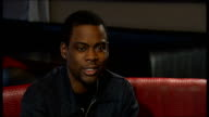 London INT Chris Rock interview SOT on his reputation as funniest man alive on why it took so long to tour UK saying he's having a good time on...