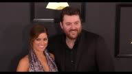 Chris Young and Cassadee Pope at the 59th Annual Grammy Awards Arrivals at Staples Center on February 12 2017 in Los Angeles California 4K
