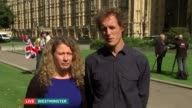 Christian parents withdraw child from school in transgender row ENGLAND London Westminster EXT Nigel and Sally Rowe LIVE 2WAY Interview ex...