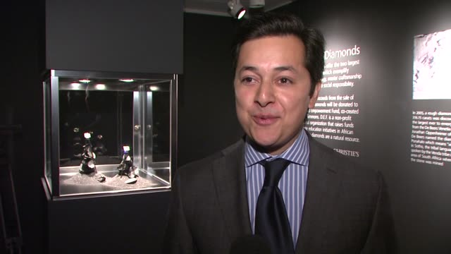 Christie's Previews the Ponahalo Diamonds Before Auction at New York NY