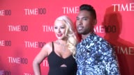 Christina Aguilera and Miguel at 2013 Time 100 Gala Arrivals at Frederick P Rose Hall Jazz at Lincoln Center on April 23 2013 in New York New York