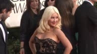 Christina Aguilera at the 68th Annual Golden Globe Awards Arrivals Part 2 at Beverly Hills CA