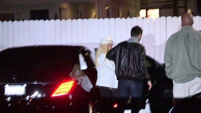 Christina Aguilera Matthew Rutler enter Giorgio Baldi in Santa Monica Celebrity Sightings in Los Angeles CA on