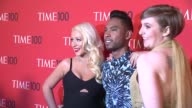 Christina Aguilera Miguel and Lena Dunham at 2013 Time 100 Gala Arrivals at Frederick P Rose Hall Jazz at Lincoln Center on April 23 2013 in New York...