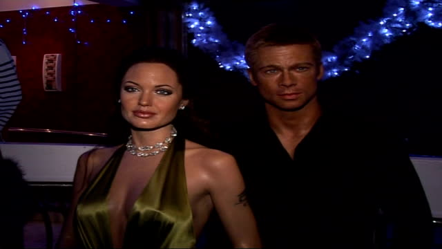 Christina Aguilera's waxwork at Madame Tussauds More of celebrity waxworks including Brad Pitt and Angelina Jolie