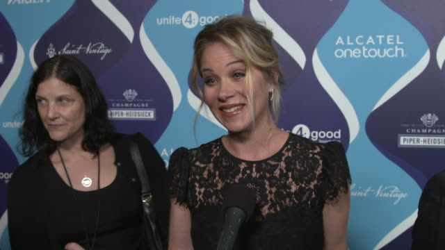 INTERVIEW Christina Applegate on how she feels about being honored for her philanthropic work why she thinks the entertainment industry can have an...