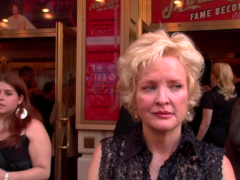 Christine Ebersole/ Actress She talks about Martin Short her new project Grey Gardens and seeing Joe Kennedy at the Martin Short Fame Becomes Me...