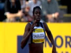 Christine Ohuruogu pipped at the post by Lee McConnell during Women's 400m 2004 Crystal Palace Athletics Grand Prix London