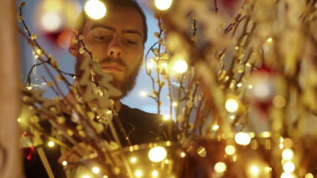 Christmas arrangement man