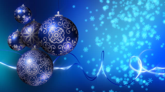 christmas background blue and silver loopable stock