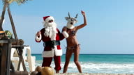 Weihnachten Party am Strand