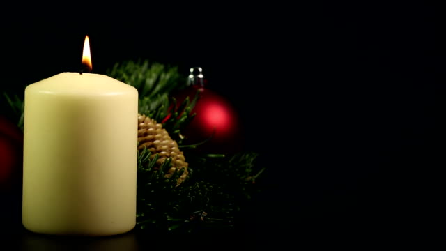 Christmas Candle with text space
