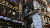 Christmas decoration at Rue du Maroquin, old town of Strasbourg, Alsace, France