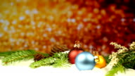 Christmas decoration with glitter background