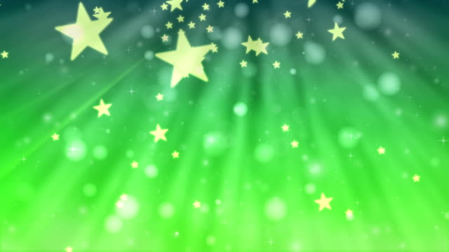 Christmas glitter stars green background stock footage
