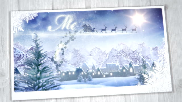 Christmas Greeting Card (from day to night) - Loop
