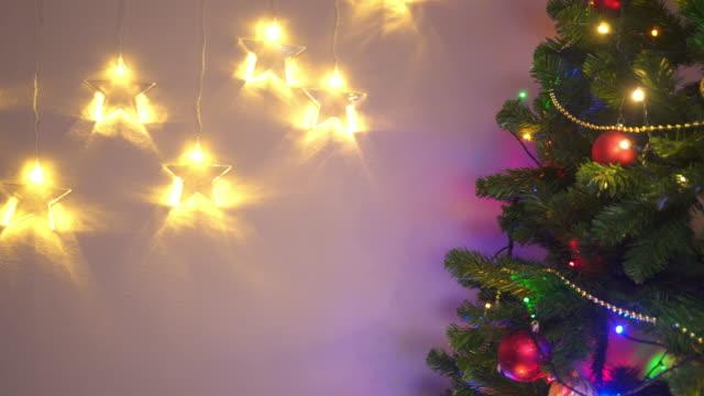 Christmas lights and Christmas tree