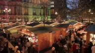 Christmas Market, Albert Square, Manchester, Lancashire, England, United Kingdom