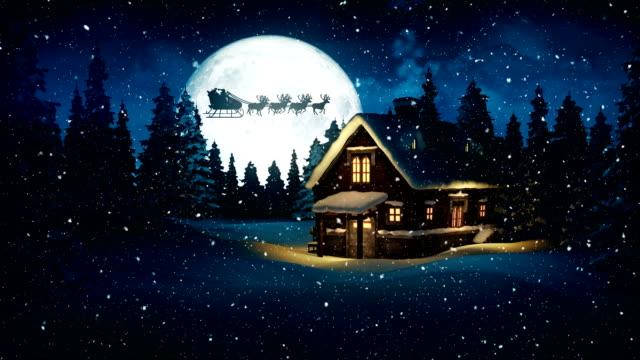 Christmas Night - Flying Santa Claus | 4K