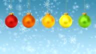 Christmas Ornaments Festive Background