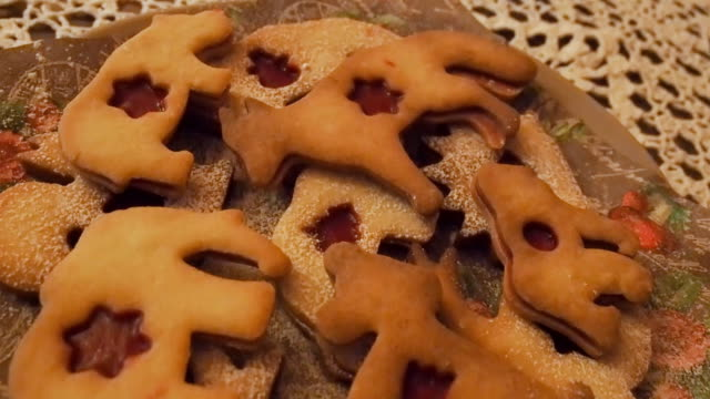 Christmas pastries on the table