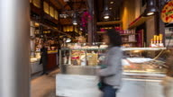 Christmas Shoppers at the Mercado de San Miguel, Madrid - Timelapse