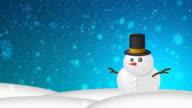 Christmas Snow HD Blue