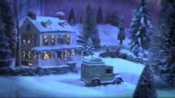Christmas Snow Scene with Gentle Snowfall - Country Inn