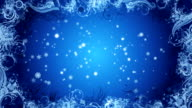 Christmas Snowflake background Blue Loop