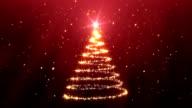 Weihnachtsbaum Hintergrund-Rot