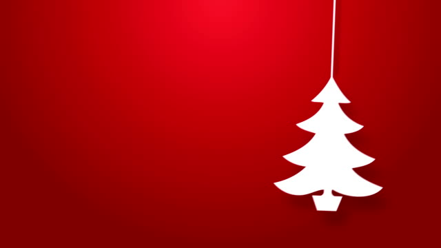 Christmas tree bouncing on a string animation.