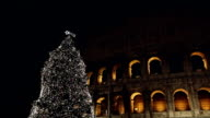 Christmas Tree in front of the Coliseum