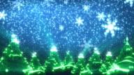 Weihnachten Bäume und Schnee (HD-Loop