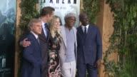 Christoph Waltz Alexander Skarsgard Margot Robbie Samuel L Jackson Djimon Hounsou at Premiere Of Warner Bros Pictures' 'The Legend Of Tarzan' in Los...