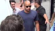 Christopher MintzPlasse and Donald Faison on streets of San Diego Comic Con at Celebrity Sightings ComicCon International 2013 Celebrity Sightings...