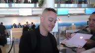 INTERVIEW Christopher Reed talks about Adele departing at LAX Airport in Los Angeles Celebrity Sightings on February 18 2016 in Los Angeles California