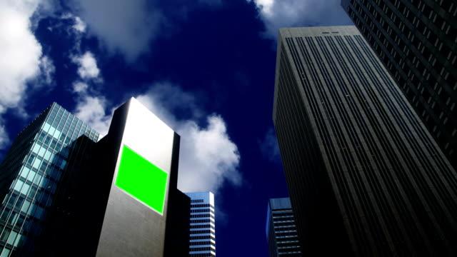 chroma key Billboard on a skyskraper