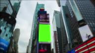 Chromakey grünen Bildschirm Time Square New York City Manhattan