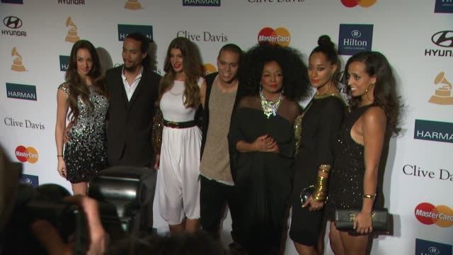 Chudney Ross Evan Ross Diana Ross Tracee Ellis Ross Rhonda Ross Kendrick at Clive Davis And The Recording Academy's 2012 PreGRAMMY Gala And Salute To...